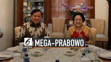 Mega-Prabowo Makan Satu Meja, Ini Potret Pertemuannya