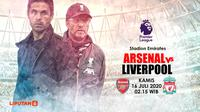 ARSENAL VS LIVERPOOL (Liputan6.com/Abdillah)