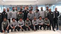 Timnas Vanuatu jelang keberangkatan ke Indonesia, Kamis (13/6/2019). (Bola.com/Dok. Vanuatu Football Federation)
