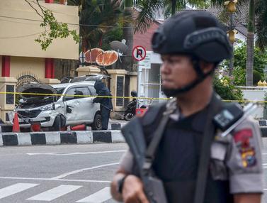 Pengamanan Mapolda Riau Usai Serangan Terduga Teroris