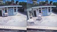 Potongan video CCTV di RSUD Wonosari Gunungkidul mendadak membuat heboh jagat maya. Video berdurasi tidak lebih dari 30 detik itu berisi rekaman gerobak medis bergerak sendiri. (Liputan6.com/ Ist)