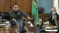 Gubernur Jawa Barat Ridwan Kamil mengatakan pihak Pemerintah Provinsi (Pemprov) Jabar akan memberlakukan prosedur tetap atau protap kesehatan di terminal, bandara, dan stasiun. (Humas Jabar)