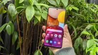 Samsung Galaxy A71. Liputan6.com/ Yuslianson