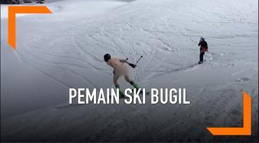 Seorang pemain ski bernama Joss Baldwin melakukan cara yang tidak biasa dalam rangka mengumpulkan dana untuk amal. Joss bermain ski sambil telanjang di Pegunungan Alpen.
