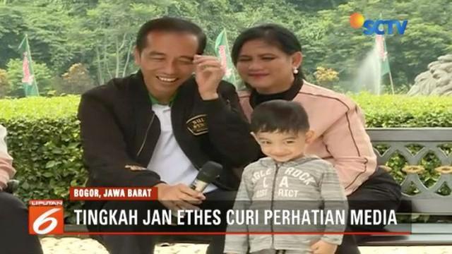 Menghabisi akhir pekan bersama keluarga jadi momen langka bagi Presiden Jokowi.