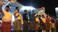 Perayaan pawai takbir keliling tingkat Kota Batam, Selasa (4/6) malam.