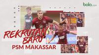 3 rekrutan baru PSM Makassar, Aaron Evans, Eero Markkanen dan Bayu Gatra. (Bola.com/Dody Iryawan)