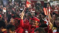 Mantan Wagub DKI Jakarta, Djarot Saiful Hidayat saat menghadiri Kongres V PDIP di  Grand Inna Beach, Sanur, Bali, Kamis (8/8/2019). Kongres V PDIP berlangsung selama tiga hari sejak tanggal 8 - 10 Agustus mendatang. (Liputan6.com/Johan Tallo)