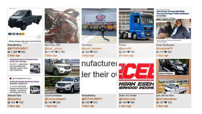 Gambar yang paling banyak ditanggapi pada twit yang membahas Mobil Esemka. Kredit: Drone Emprit Academic