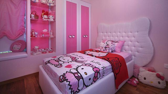 Contek Kamar Tidur Bernuansa Hello Kitty Properti Liputan6