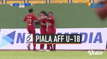 Timnas Indonesia U-18 meladeni Timor Leste di Stadion Go Dau, Thu Dau Mot, pada laga kedua Grup A Piala AFF 2019, Kamis (8/8/2019). Melakoni duel ini, Tim Garuda Nusantara menang 4-0 atas Timor Leste.