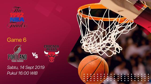 Saksikan Pertandingan Nostalgia NBA Finals 1992 Game ke-6: Portland Trail Blazers VS Chicago Bulls di Vidio (Sudah)