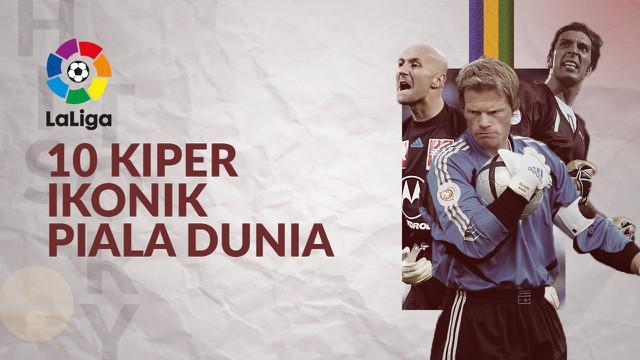 Berita motion grafis Gianluigi Buffon dan 9 kiper ikonik Piala Dunia lainnya.