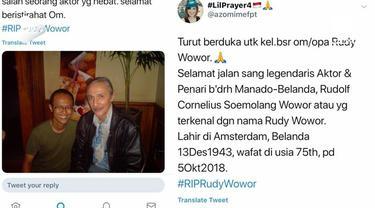 Kabar duka datang dari Tanah Air, Dunia seni peran baru saja kehilangan sosok aktor legendaris. Aktor senior Rudy Wowor meninggal dunia di usia 74 tahun