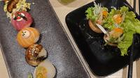 Hidangan sushi premium dari Genki Sushi yang patut dicoba (Foto: Vinsensia Dianawanti)