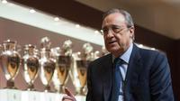 Presiden Real Madrid, Florentino Perez. (AFP/Javier Soriano)