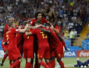 FOTO: Sempat Unggul 2 Gol, Jepang Akhirnya Kalah dari Belgia
