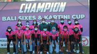 Bali Juara Turnamen Cricket Piala Kartini 2021  (ist)