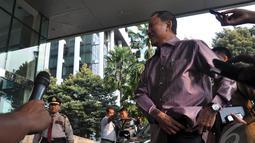 Dalam pertemuan itu didiskusikan banyak hal termasuk pandangan pimpinan KPK yang menolak adanya pengganti Busyro, Selasa (26/8/2014) (Liputan6.com/Miftahul Hayat)