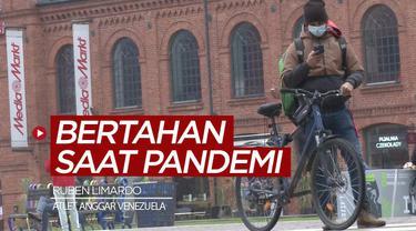 Berita video cerita atlet anggar Venezuela peraih medali emas Olimpiade 2012, Ruben Limardo, yang bertahan hidup di tengah pandemi COVID-19 dengan menjadi pengantar makanan online.