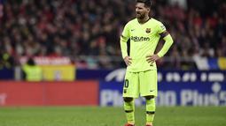 2. Lionel Messi (Barcelona) - 9 gol dan 6 assist (AFP/Javier Soriano)