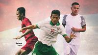 Timnas Indonesia - Asep Berlian, Zulfiandi, Rachmat Irianto (Bola.com/Adreanus Titus)