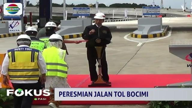 Jokowi menyambut baik pengoperasian ruas tol ini karena bisa mengurai kemacetan mulai dari Bogor, Ciawi hingga Cigombong.