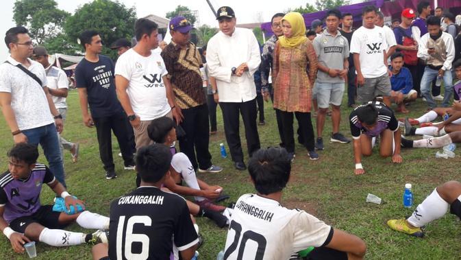 Tim Desa Sidrap, Sulawesi Selatan menjadi Liga Desa Nusantara 2018 (Pramita Tristiawati/Liputan6.com)