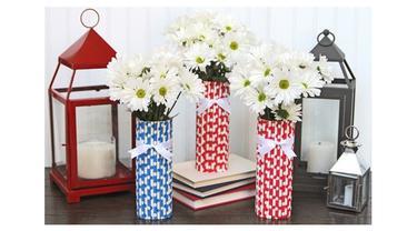 Cara Membuat Vas Bunga Dari Sedotan