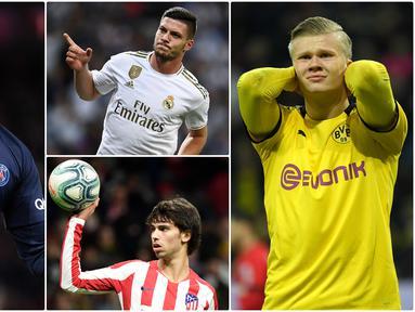 UEFA secara resmi menunda penyelenggaraan Piala Eropa 2020 karena adanya wabah virus corona. Sejumlah bintang muda pun gagal unjuk kemampuan di ajang bergengsi tersebut. Berikut 6 bintang muda yang gagal mentas musim panas ini karena EURO ditunda. (Kolase foto AFP)