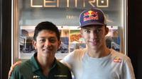 Rio Haryanto dan Pierre Gasly saat sama-sama memperkuat Caterham di ajang GP2 Series 2015. (Dokumentasi Rio Haryanto)