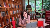 Potret ruang kerja Najwa Shihab. (Sumber: Instagram/najwashihab)