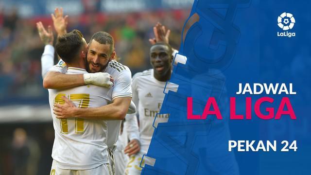 Berita video jadwal La Liga 2019-2020 pekan ke-24. Real Madrid hadapi Celta Vigo, Senin (17/2/2020) di Santiago Bernabeu, Madrid.