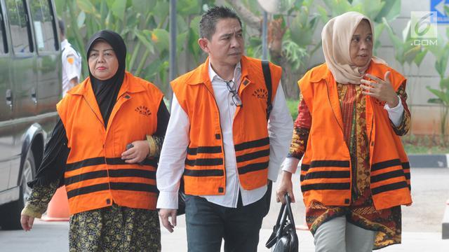 Ekspresi Tiga Anggota DPRD Kota Malang Saat Kembali Diperiksa KPK