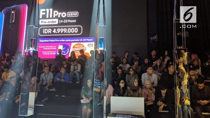 Peluncuran Oppo F11 Pro di Jakarta, Rabu (13/3/2019). (Liputan6.com/ Jeko Iqbal Reza)