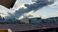 Petugas Pos Pengamatan Gunungapi Sinabung, Armen Putra mengatakan, erupsi kedua ini terjadi pukul 17.18 WIB. (Istimewa)