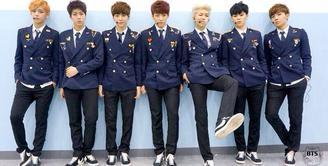 BTS adalah salah satu grup idola Korea Selatan yang populer. Tak hanya populer di Korea Selatan saja, grup asuhan Big Hit ini juga populer di luar negeri. (Foto: Soompi.com)