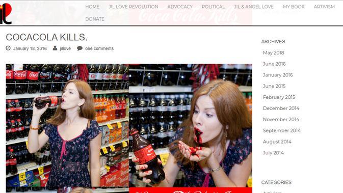 [Cek Fakta] Minum Coca-Cola Diklaim Sama dengan 'Minum Darah' Warga Palestina, Ini Faktanya ( jilloverevolution.com)