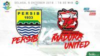 Jadwal Liga 1 2018 pekan ke-24, Persib Bandung vs Madura United. (Bola.com/Dody Iryawan)