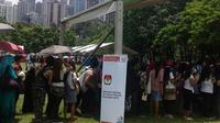 Antrean pemungutan suara WNI di Hong Kong (Migrant Care)