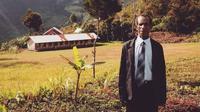 Sulaiman, seorang gunu honorer di Desa Wamerek, Wamena, Papua. (dok. Twitter @daniellsinaga)