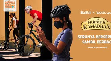 Blibli ajak berdonasi dengan kegiatan bersepeda