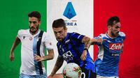 Serie A - Luis Alberto, Papu Gomez, Fabian Ruiz (Bola.com/Adreanus Titus)