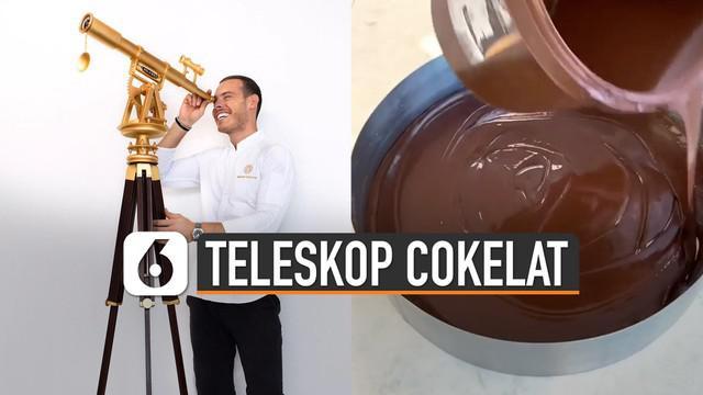Teleskop memang biasa digunakan untuk meneropong benda benda angkasa. Tetapi bagaimana jika teleskop itu terbuat dari coklat.