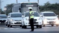 Polres Pemalang melakukan rekayasa lalu lintas untuk mengantisipasi kemacetan pantura, dalam kota dan jalur selatan. (Foto: Liputan6.com/Polres Pemalang/Muhamad Ridlo)