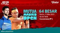 Live Streaming ATP 1000 MUTUA Madrid Open 2021 Eksklusif di Vidio. (Sumber : dok. vidio.com)