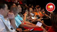 Ratusan agen properti nampak antusias mendengarkan pemaparan yang disampaikan dalam Rumah.com Agent Summit 2015.