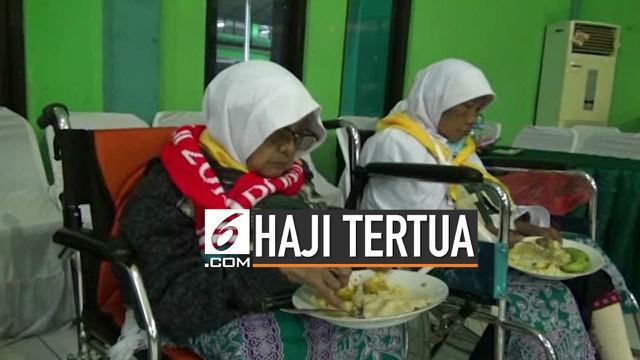 Sukinah, calon haji berusia 93 tahun dari embarkasi Surabaya akhirnya menggapai mimpinya ke Tanah Suci. Sebelumnya, ia menunggu 6 tahun sebelum diberangkatkan.