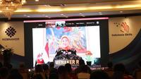 Menaker Ida Fauziah pada acara Silaturrahim dengan 70 Calon Kompetitor ASC XIII di Ruang Serbaguna Kemnaker Jakarta, Kamis (10/12/2020).