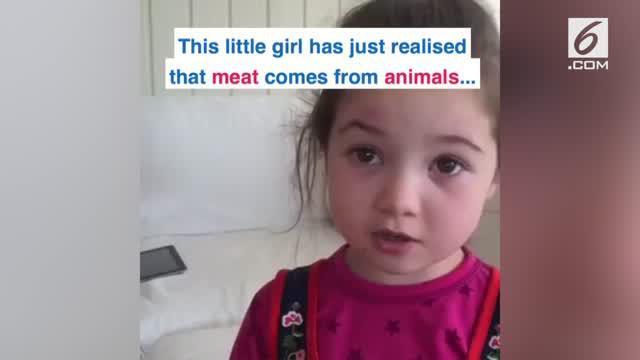 Seorang gadis cilik bersikeras tidak akan memakan makanan yang terbuat dari hewani.